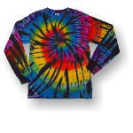 Adult Long Sleeve T-Shirt - Rainbow Tornado