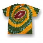 Adult Short Sleeve T-Shirt - Football Spiral