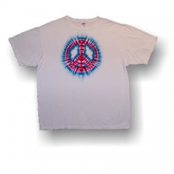 Adult Short Sleeve T-Shirt - Peace Sign (White)