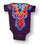 Infant Short Sleeve One Piece - Gothic V (Purple)