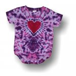 Infant Short Sleeve One Piece - Heart