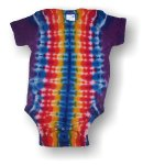 Infant Short Sleeve One Piece - Rainbow Stripe