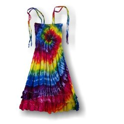Adult Salsa Dress - Rainbow Tornado