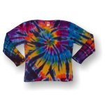 Toddler Long Sleeve Girly Tee - Rainbow Tornado
