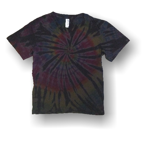 Adult V Neck T - Dark Spiral - Click Image to Close