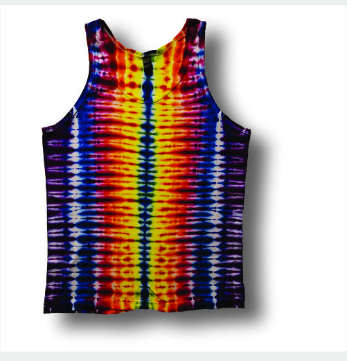 Men's Tank Top- Rainbow Stripe - Click Image to Close